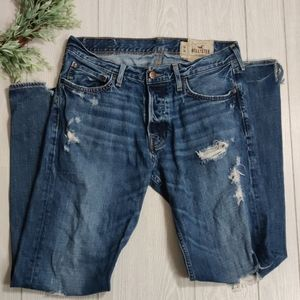 Hollister 34x34 destroyed bootcut jeans